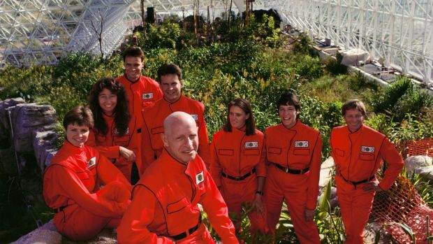 The Biosphere 2 crew in Spaceship Earth