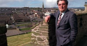 John Hume on the Walls of Derry, spring 1998. Photograph: Pacemaker