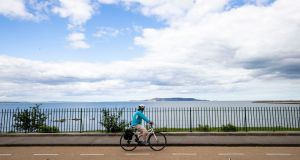A cyclist using the cycleway on Seapoint Avenue, Dublin. Photograph: Tom Honan/The Irish Times