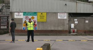 The Kildare Chilling Company Meat Plant on the outskirts of Kildare Town, where there has been a significant outbreak of Covid-19 among employees. Photograph: Laura Hutton/The Irish Times