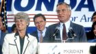 "Geraldine Ferraro and Walter Mondale campaign at the Democratic Convention in 1984 in San Francisco. She later said she  was not ""prepared for the depth of the fury, the bigotry, and the sexism my candidacy would unleash"".  Photograph: Sonia Moskowitz/Images/Getty Images"
