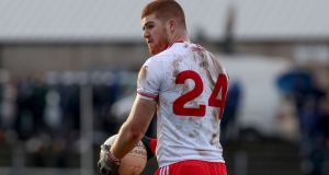 Cathal McShane: his hopes to play a role for Tyrone in the championship have been dashed due to an  injury complication. Photograph: Bryan Keane/Inpho