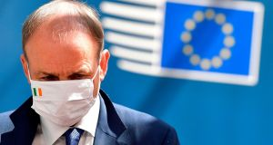 Taoiseach Micheál Martin leaves an EU Council meeting in Brussels on July 19th. Photograph: John Thys/AFP via Getty Images