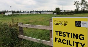 A Covid-19 test centre outside Tullamore, Co Offaly. Photograph: Collins