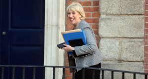 Minister for Social Protection Heather Humphreys urged workers in Kildare, Laois and Offaly who were affected by the new Covid-19 restrictions to apply for the pandemic unemployment payment. File photograph: Dara Mac Dónaill