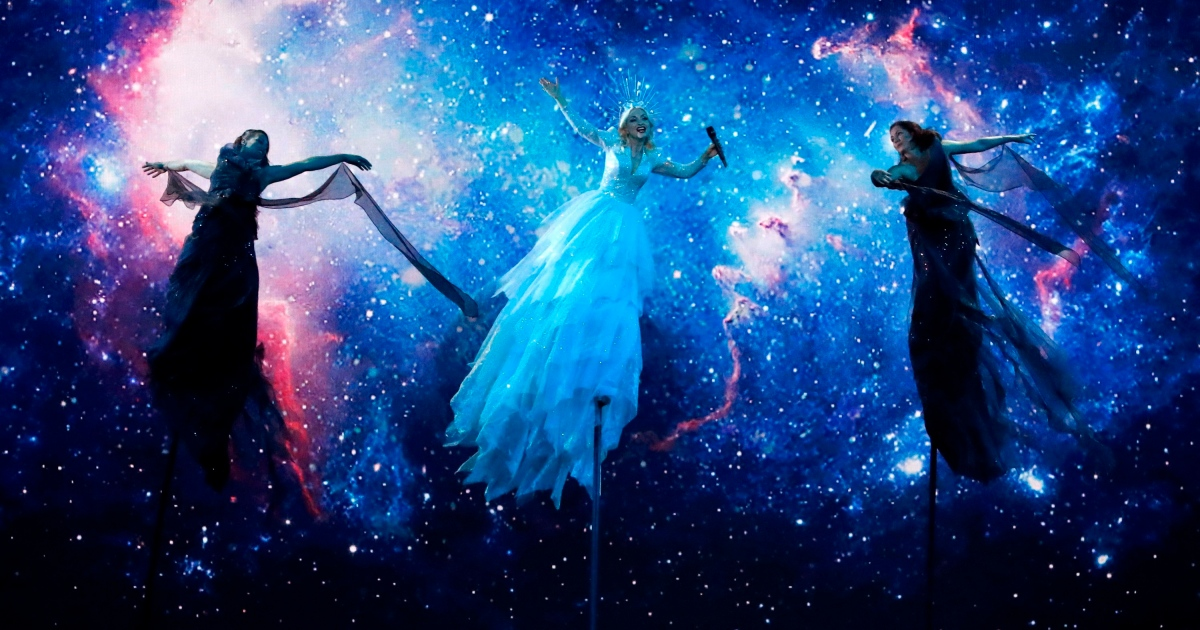 Eurovision: Kate Miller-Heidke performs Zero Gravity, the Australian entry, in the 2019 song contest. Photograph: Jack Guez/AFP via Getty