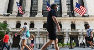 The New York Stock Exchange: tech stocks were under pressure on Monday. Photograph: Angela Weiss/AFP