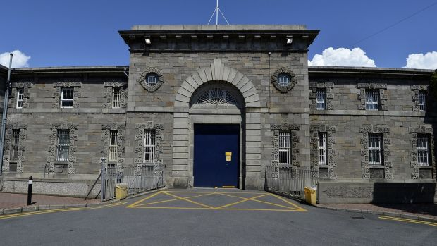 Mountjoy, above, was the thirstiest prison with 190 litres seized followed by Limerick (133 litres). No alcohol was found in the Dochas women's prison or in Loughan House, Co Cavan. File photograph: David Sleator