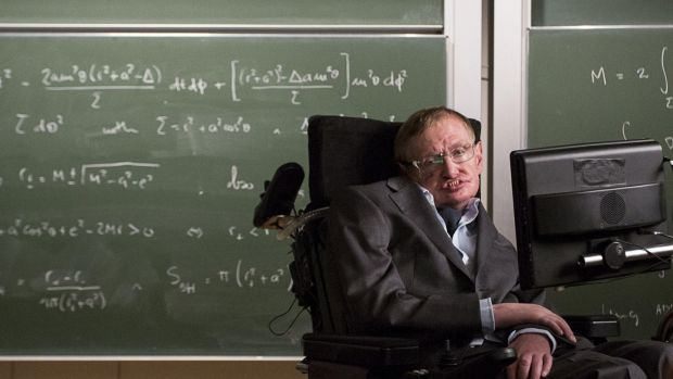 Professor Stephen Hawking once held a party for time travellers. Photograph: Tom Dymond