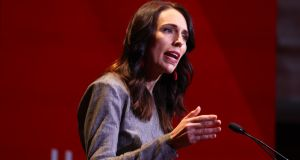 New Zealand prime minister Jacinda Adern announced a return to a coronavirus  lockdown for Auckland. Photograph: Brendon O'Hagan/Bloomberg