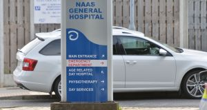 A Covid-19 outbreak has been recorded on a ward at Naas General Hospital, with efforts now under way to trace the extent of the cluster. File photograph: Alan Betson/The Irish Times