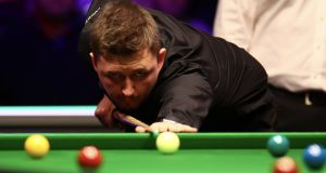 Kyren Wilson beat defending champion Judd Trump 13-9 in the quarter-finals at the Crucible on Tuesday. File photograph: Getty Images