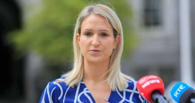 A briefing note for Minister for Justice Helen McEntee said the €80m allocated for direct provision accommodation would have been spent by the end of June. Photograph: Gareth Chaney/Collins