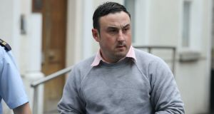 Aaron Brady (29) denied the capital murder of Det Garda Adrian Donohoe. Photograph: Collins Courts.