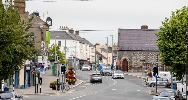 A general view of Naas in Co Kildare, one of three counties where movement restrictions have been imposed to try slow the spread of Covid-19. Photograph: Tom Honan/The Irish Times.