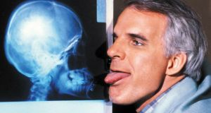 Gloriously daft: Steve Martin as Dr Hfuhruhurr in The Man with Two Brains