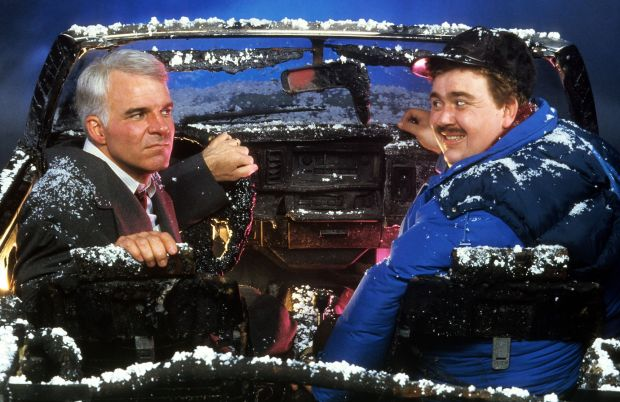 Steve Martin and John Candy in Planes, Trains & Automobiles. Photograph: Paramount/Getty