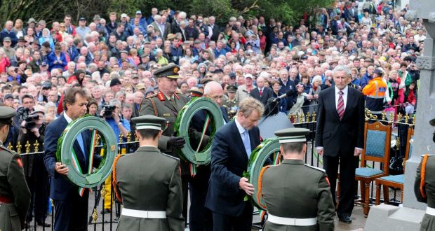 Then taoiseach Enda Kenny at the Béal na Bláth commemoration in 2012. Photograph: Provision