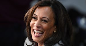 California senator Kamala Harris, whom Joe Biden has chosen as his running mate on the Democratic ticket for the November presidential election. Photograph: Saul Loeb/AFP via Getty Images