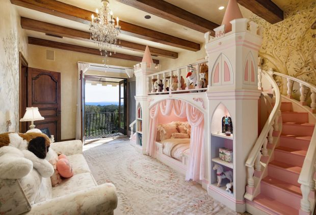 A child's bedroom in Meghan and Harry's new home in Montecito, in Santa Barbara, California. Photograph: santabarbarasluxuryhomes.com