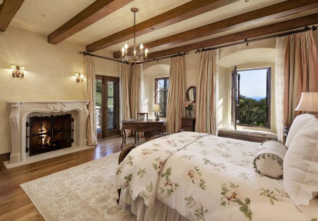 A bedroom in Meghan and Harry's new home in Montecito, in Santa Barbara, California. Photograph: santabarbarasluxuryhomes.com