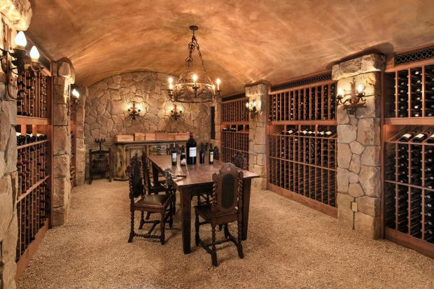 The wine cellar in Meghan and Harry's new home in Montecito, in Santa Barbara, California. Photograph: santabarbarasluxuryhomes.com