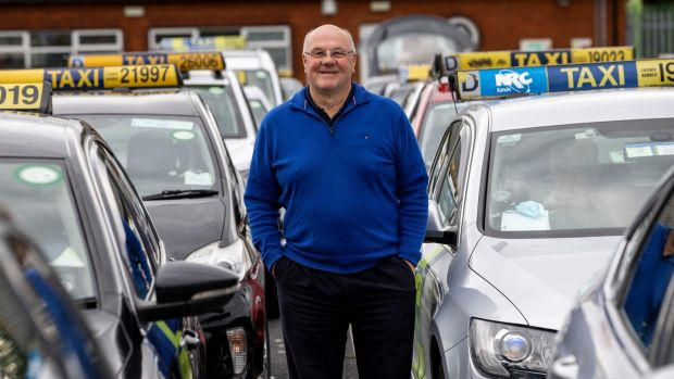 Colm O' Brien said on one shift last week he was waiting five hours before he got a fare. Photograph: Tom Honan/The Irish Times.