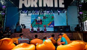 Fans attending the 2019 Fortnite World Cup Finals at Arthur Ashe Stadium, in New York City