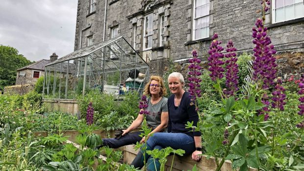 Sisters Helen McCauley (head gardener) and and Christina O'Hara (head chef) from Coopershill.