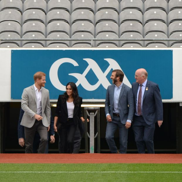 Harry and Meghan at Croke Park in 2018. Photograph: Dara Mac Dónaill
