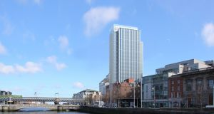 Developer Johnny Ronan is betting that Dublin's office market will recover more quickly than the hotel sector, dropping plans for a hotel in his  23-storey  building on Tara St