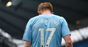Kevin De Bruyne has been rewarded for his excellent season with Manchester City. File photograph: Getty Images