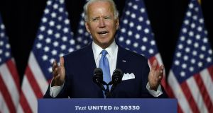 Democratic presidential candidate Joe Biden: Should he make it to the White House, Biden would have completed the longest marathon in US political history. Photograph: Olivier Douliery/AFP via Getty Images