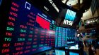 A rise in New York tech stocks tempered a slide for banks. Photograph: Johannes Eisele/AFP