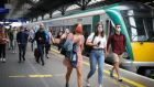 Passengers wearing face masks disembark their trains at Heuston Station, Dublin, last Friday. Photograph: Crispin Rodwell