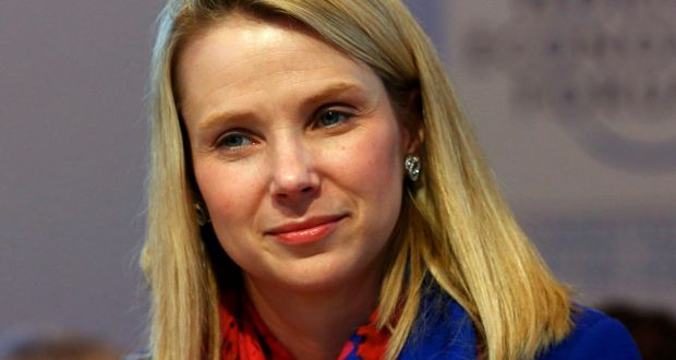 Marissa Mayer, the former Yahoo chief executive, banned employees from working from home in 2013 Photograph: Ruben Sprich/Reuters