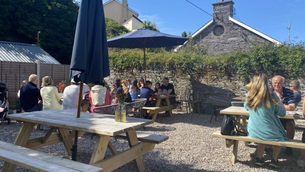 The outdoor area at Dede in Baltimore, west Cork. Photograph: Corinna Hardgrave