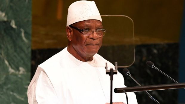 President of Mali Ibrahim Boubacar Keita: said his resignation three years before his final term was effective immediately. Photograph: Don Emmert/AFP via Getty Images