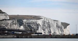 The  cliffs of Dover in Kent. Britain and France have said they are trying to shut down the migrant route across the Channel. Photograph: Andy Rain/EPA