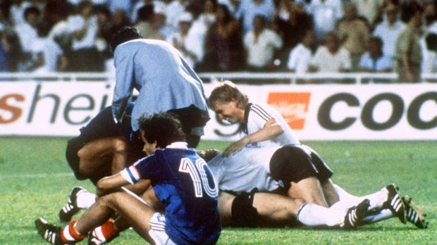 Michel Platini after his team crashed out of the World Cup in Sevilla. File photograph: Getty Images