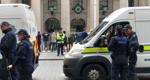 'Alt-right' protest in July in Dublin  resulted in scuffles with opposition protestors and the arrival of the Garda public order unit, which was not deployed. Photograph: Alan Betson