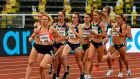 The women's 1500m event at the Diamond League Athletics meeting in Stockholm. Photograph: Getty Images