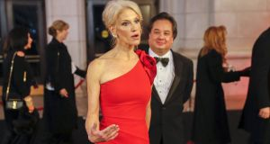 Counselor to the US president Kellyanne Conway has announced that she will leave the white house at the end of August 2020. Also her husband George Conway is withdrawing from The Lincoln Project. Photograph: Erik S Lesser/EPA