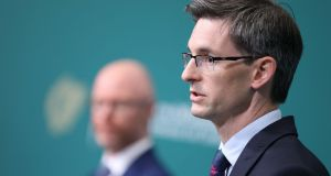 Acting Chief Medical Officer Dr Ronan Glynn during a press briefing at Government Buildings in Dublin. Photograph: Julien Behal/PA Wire
