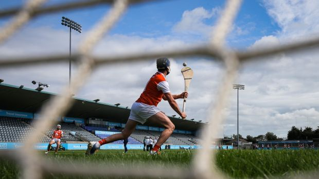 Dublin Senior hurling action ahead of St Brigid's and Cuala. Photograph: Inpho