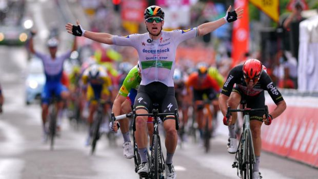 Ireland's Sam Bennett might target one of the early sprint finishes, like stage 3 from Nice to Sisteron. Photograph: Luc Claessen/Getty Images