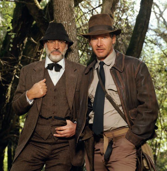 Harrison Ford as Indiana Jones and Sean Connery as his father Henry Jones in the film 'Indiana Jones and the Last Crusade', 1989. (Photo by Terry O'Neill/Getty Images)