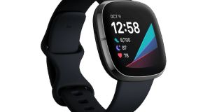 The Fitbit Sense: features the world's first electrodermal activity (EDA) sensor on a smartwatch to help manage stress