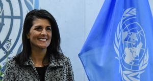 Nikki Haley, nominated as UN ambassador by Donald Trump, managed to leave his administration two years later still on good terms with him and with her reputation more or less intact. Photograph: Stephanie Keith/Reuters