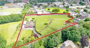 An aerial view of the site on Whitechurch Road in Rathfarnham, Dublin 14.